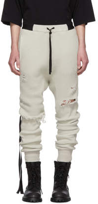 Unravel Beige Distressed Waffle Lounge Pants