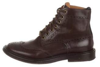 Rochas Wingtip Ankle Boots Brown Wingtip Ankle Boots