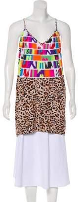 Mara Hoffman Sleeveless Leopard Print Top