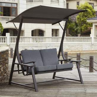 Andover Mills Marquette Glider Porch Swing with Stand Cushion