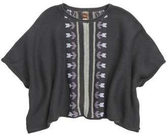 Tea Collection Floral Stripe Knit Poncho (Toddler Girls, Little Girls & Big Girls)