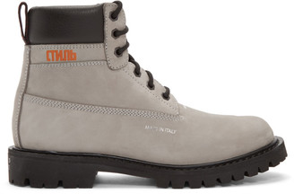 Heron Preston Grey Worker Boots