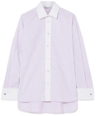 Max Mara Striped Cotton-poplin Shirt - Lavender