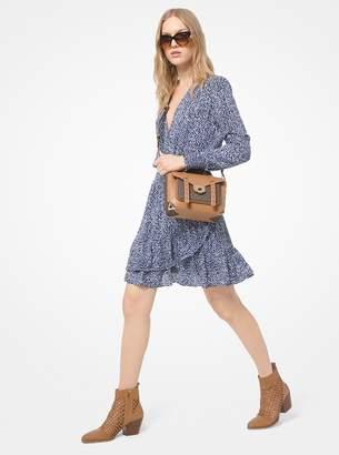 MICHAEL Michael Kors Mini Ikat-Print Crepe Ruffle Dress
