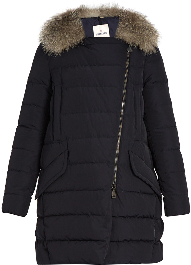 MonclerMONCLER Metrodora fur-trimmed quilted down coat