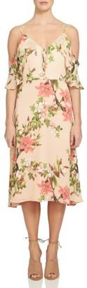 Women's Cece Alice Cold Shoulder Midi Dress $148 thestylecure.com