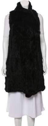 Elizabeth and James Knitted Fur Vest