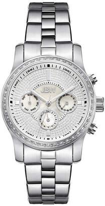 JBW Womens Diamond-Accent Stainless Steel Bracelet Watch J6327A