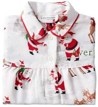 Pottery Barn Kids Heritage Santa Flannel Nightgown, 2T