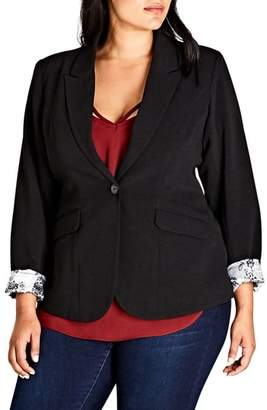 City Chic Rolled Cuff Jacket