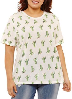 Mighty Fine Cactus Tee - Juniors Plus