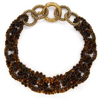 Rosantica By Michela Panero - Carramato Short Beaded Necklace - Womens - Brown