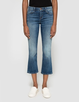 Selena Mid Rise Crop Boot Cut $238 thestylecure.com