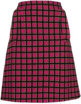Prada Pre-Owned geometric mini skirt