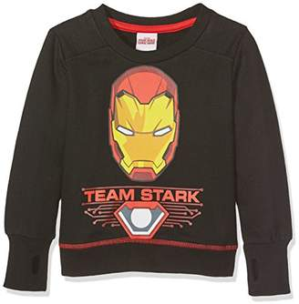 Marvel Boy's Iron Man - Team Stark - Kids Crew Sweat - Snow Bibs,(Manufacturer Size:XX-Small)