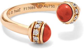 Piaget Possession 18-karat Rose Gold, Carnelian And Diamond Ring