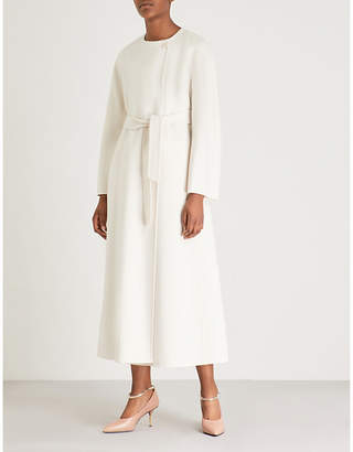 Max Mara Tundra waist-tie wool and cashmere-blend coat