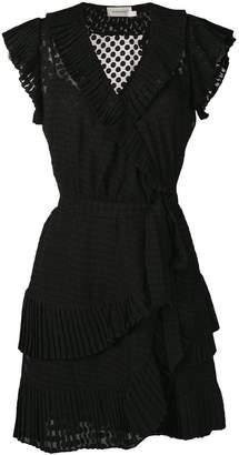 Zimmermann Plisse mini wrap dress