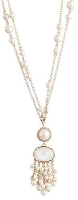 Carolee Pacific Pearl Women's Pacific Pearl-Nk-36In Tassel Pendant Necklace