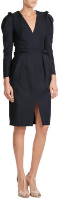 Alexander McQueen Wool Dress with Silk $2,429 thestylecure.com