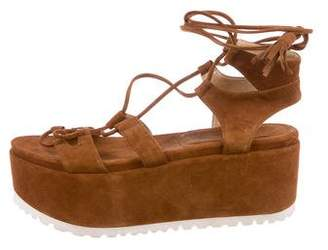 Stuart Weitzman Flatform Wedge Sandals