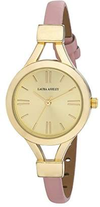 Laura Ashley Women's LA31011YG Analog Display Japanese Quartz Pink Watch $122.83 thestylecure.com