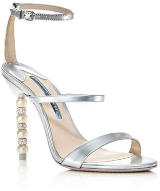 Sophia Webster Women's Rosalind Crystal & Pearl Metallic Leather High-Heel Sandals