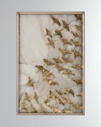 """John-Richard Collection John Richard Collection Robot's Birds In Flight"""" Wall Art"""""""