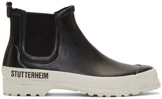 Stutterheim Black and White Novesta Edition Rainwalker Boots