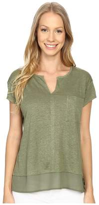 Sanctuary City Mix Tee Women's Short Sleeve Pullover