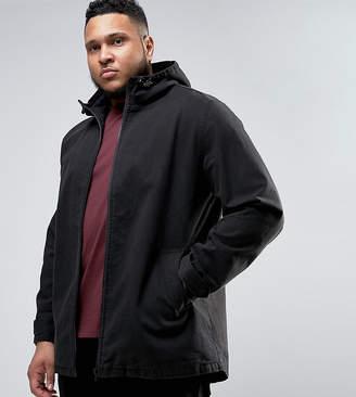 Asos DESIGN Plus lightweight parka jacket in black
