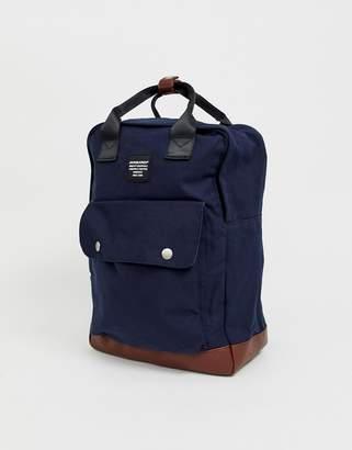 Jack and Jones smart backpack with handle in navy
