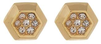 Vince Camuto Crystal Accent Hexagon Stud Earrings