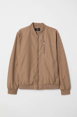 H&M Nylon-blend Bomber Jacket - Beige