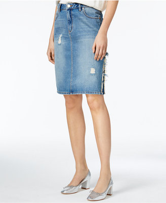 RACHEL Rachel Roy Ripped Cotton Denim Skirt, Only at Macy's $79 thestylecure.com