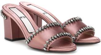 N°21 Embellished satin sandals