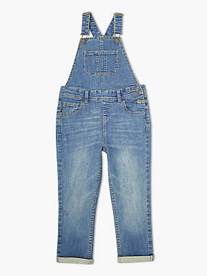 John Lewis & Partners Girls' Denim Dungarees, Blue