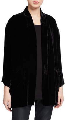 Eileen Fisher Plus Size Velvet Kimono Jacket