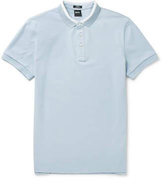 HUGO BOSS Penrose Contrast-Tipped Cotton-Piqué Polo Shirt