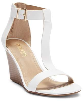 Kenneth Cole New York Ava Crave T-Strap Wedge Sandal