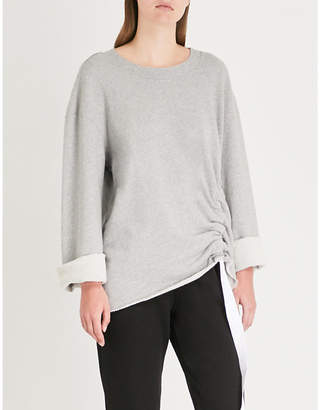 Stateside Drawstring-hem cotton-jersey sweatshirt