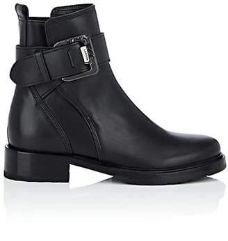 Lanvin Women's Leather Buckle Ankle Boots - Black