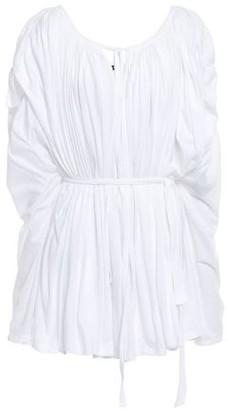 Ann Demeulemeester Gathered Cotton-jersey Top