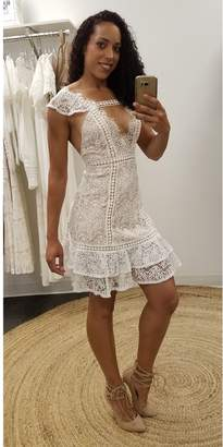 L'atiste White Lace Mini Dress