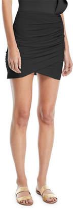 Chiara Boni Ebby Fitted Ruched Mini Skirt Coverup