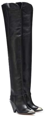 Isabel Marant Lafsten leather over-the-knee boots