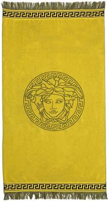 Versace Underwear Two Tone French Terry Beach Towel