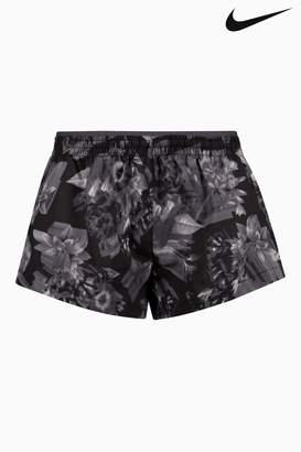 Next Womens Nike Black/Grey Printed Running Short