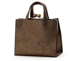 ca93e10c0b57 Un Billion Un BIllion Gama Tote Bag in Bronze Polyester