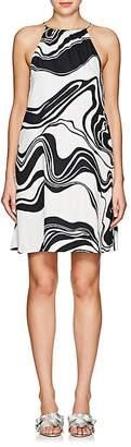 Lisa Perry WOMEN'S SWIRL CREPE HALTER DRESS